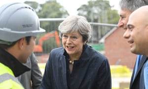 Theresa May visits a Barratt homes development. 'There may now be some investment in housebuilding but why has it taken so long for Conservatives to grasp this nettle.'
