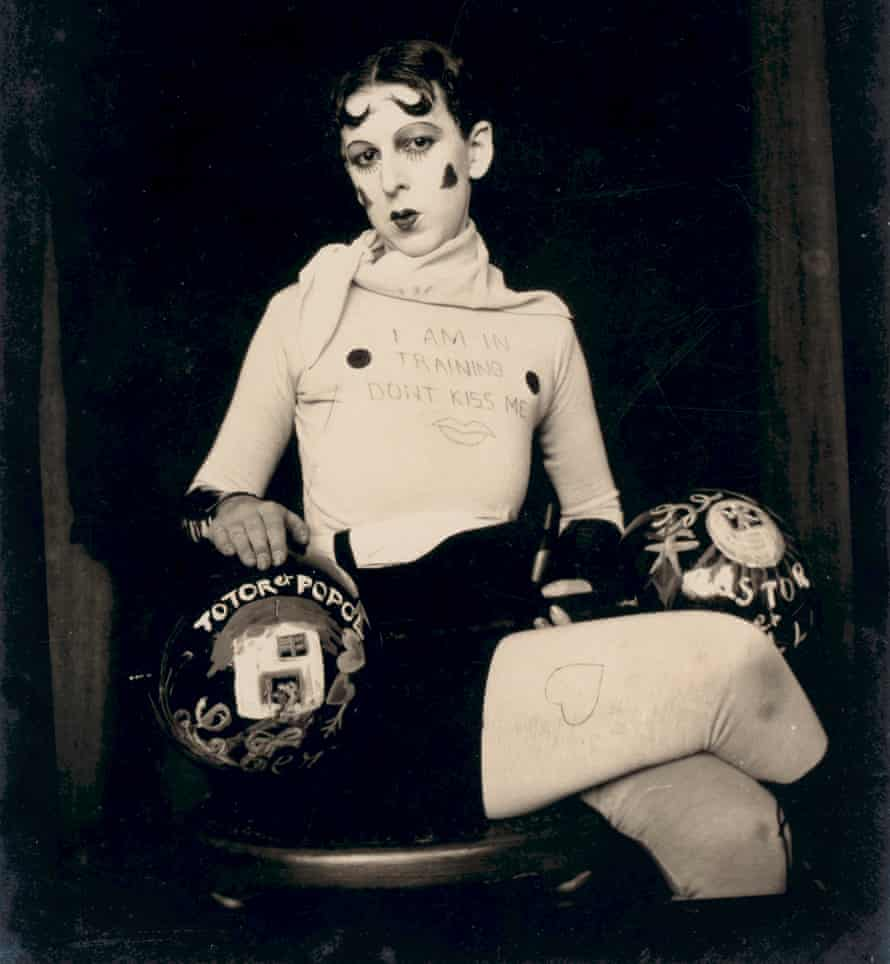 Detail of I Am In Training Don't Kiss Me by Claude Cahun.