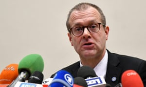WHO Europe director Hans Kluge speaks to reporters back in February.
