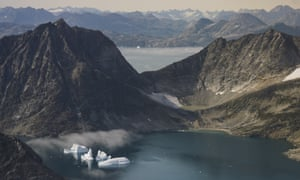 Icebergs in Greenland. Trump is said to be exploring the idea with 'varying degrees of seriousness'.