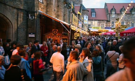 Hostile environment? Crowds in the Pleasance Courtyard at the Edinburgh festival