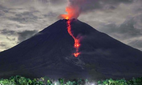Volcano eruptions and capsized vessels: the weekend's best photos