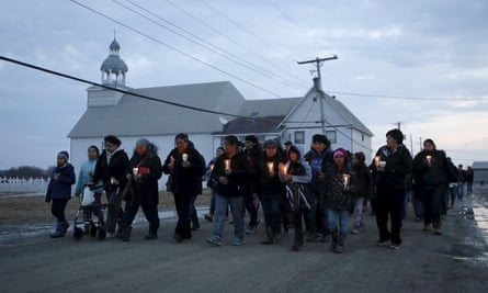 A candlelight vigil in the Attawapiskat First Nation reserve marks a shocking series of suicide attempts.