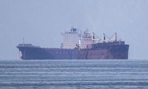 Anchored ships off the port of Piraeus, near Athens, Greece.