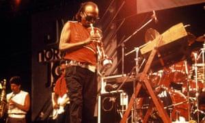'I'm never through' … Miles Davis performing in 1985.