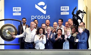 Prosus begins trading on the Euronext stock exchange in Amsterdam