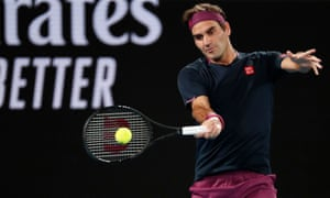 Roger Federer in action during the match against Serbia's Filip Krajinovic.