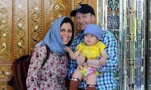 Nazanin Zaghari-Ratcliffe with her husband Richard Ratcliffe and daughter Gabriella.