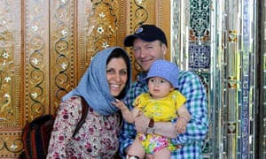 Nazanin Zaghari-Ratcliffe with her husband Richard Ratcliffe and daughter Gabriella.