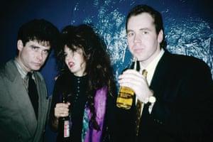 Jay McInerney (far left), Tama Janowitz and Bret Easton Ellis in New York circa 1988.