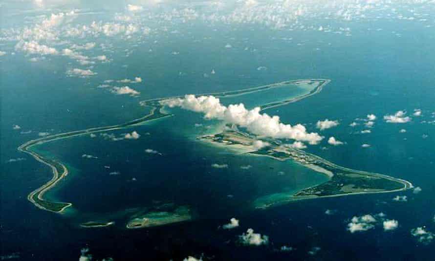 Aerial photograph of Diego Garcia