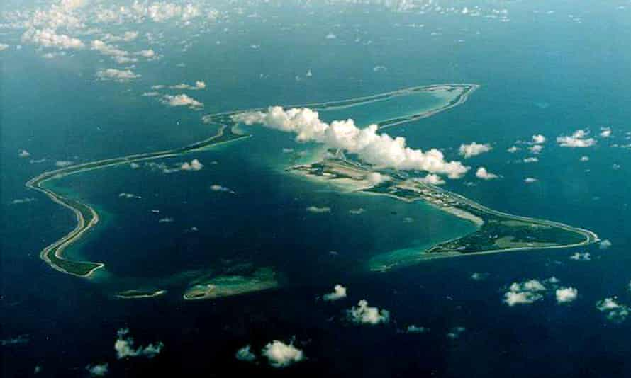 Diego Garcia, the largest island in the Chagos archipelago and site of a major US military base.