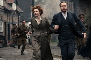'Faithful rendering': Eleanor Tomlinson and Rafe Spall in War of the Worlds.