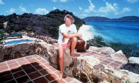 Richard Branson on Necker Island.