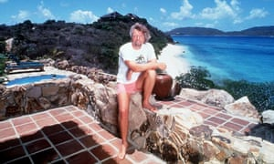 Branson at his private BVI island home in 1996. A hurricane hits the islands about once every 10 years.