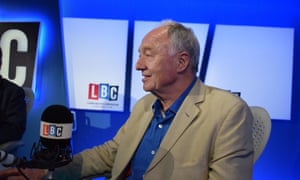 Ken Livingstone during his interview on LBC last week when he attempted to defend his controversial remarks.
