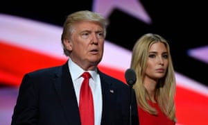 She's right behind him: Ivanka with Donald Trump.