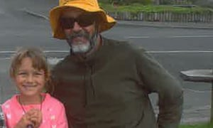 Que Langdon, 6, and her father, Alan, left New Zealand's North Island on 17 December
