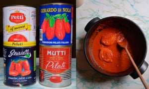 'I tend to stick to whole plum tomatoes, usually firm-fleshed Italian San Marzano.'