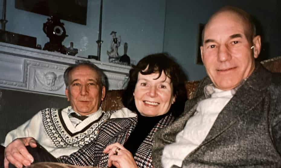 Patrick Stewart, right, with the inspirational Cecil Dormand and his wife Mary.