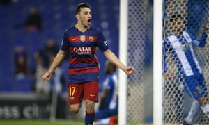 Munir El Haddadi produced his best Luis Suárez impression after stepping into the Uruguayan's shoes at the point of Barcelona's attack against Espanyol.