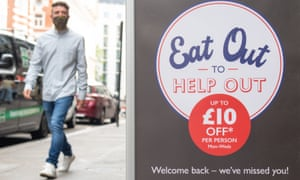 A sign for the eat out scheme in Covent Garden, central London