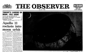 20 July 1969 Observer front page