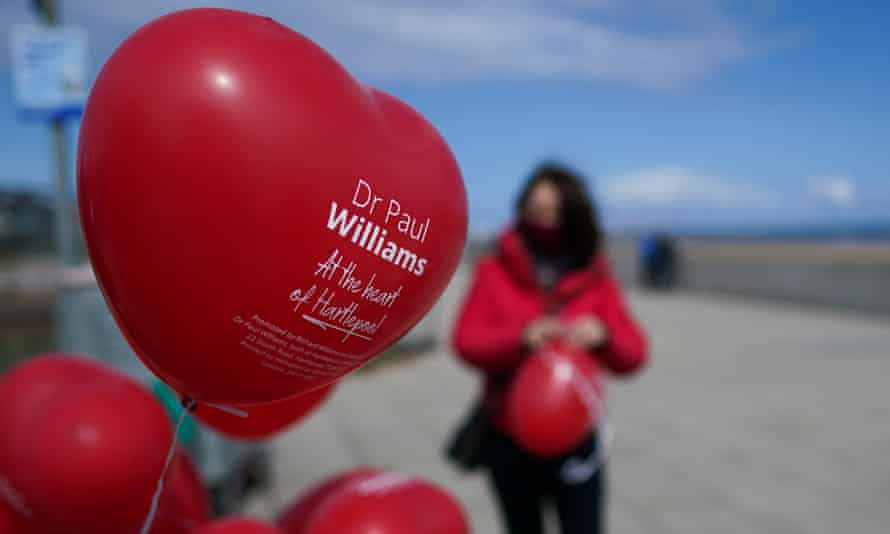 Labour Party members prepare balloons during the campaign for the Hartlepool byelection.