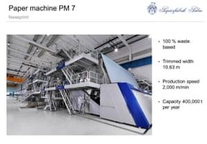 PALM paper machine PM7 in Kings Lynn