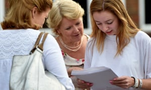 Students open their A-level results at the Lady Eleanor Holles School in Middlesex