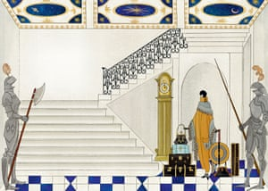 One of Kate Baylay's illustrations depicting Sackville-West's protagonist arriving in the dolls' house's marble entrance hall.