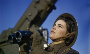 On the home front: a member of the Auxiliary Territorial Service at an anti-aircraft gun site In Britain in 1942.