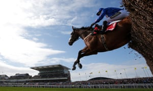 Cue Card ridden by Paddy Brennan at the Grand National