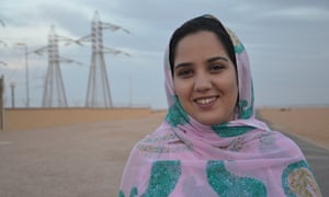 Hafsa Tarafayoui, a young Sahrawi  who works at the Tarfaya plant.