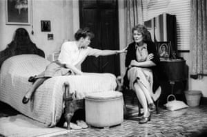 Sara Kestelman and Janet Suzman in Another Time by Ronald Harwood at Wyndham's theatre, London, in 1989.