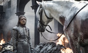 Death could be coming in a very literal way ... Arya in Game of Thrones.