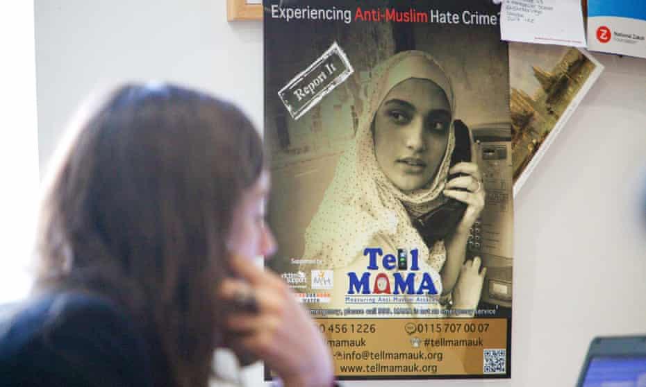 Tell Mama Islamophobia helpline poster