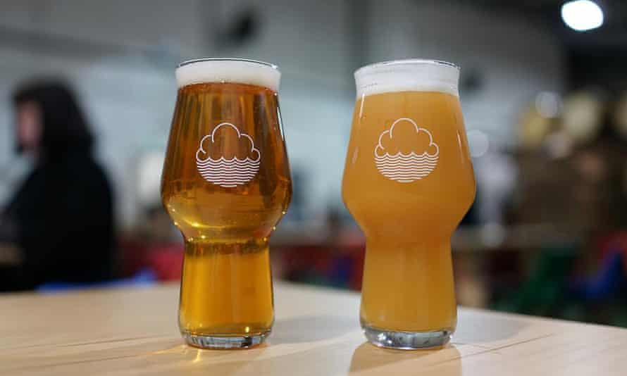 Two of Manchester brewery Cloudwater's beers