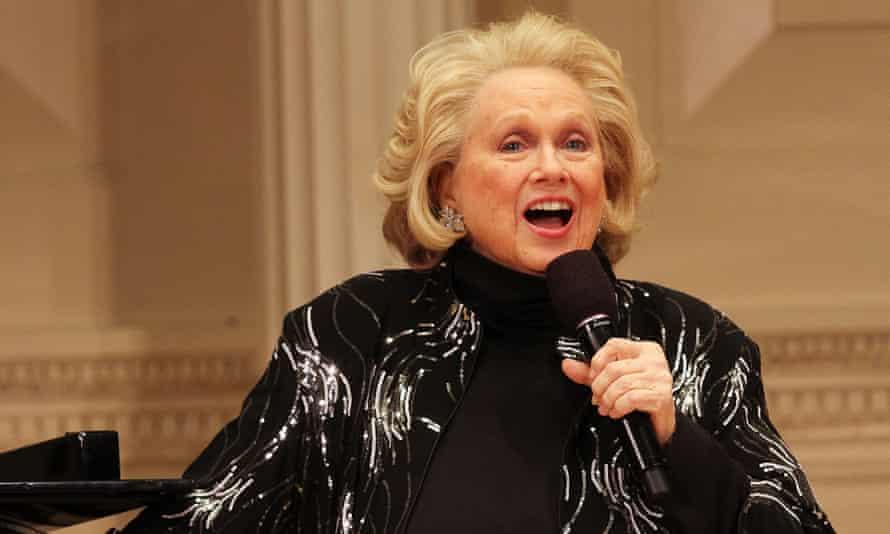 Barbara Cook performing at Carnegie Hall, New York, in 2014.