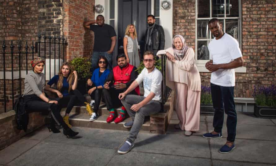 Participants in Muslims Like Us: (left to right, back) Nabil, Naila, Fehran, (left to right, front) Humaira, Mehreen, Zohra, Mani, Barra, Saba, Abdul.