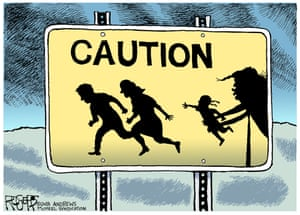 Rob Rogers, Immigrant Children, 2018