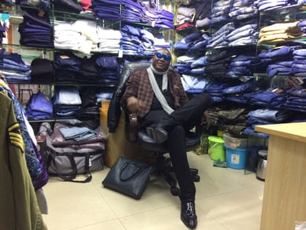 Kalifa Feika, 44, a Sierra Leonean business man who is among those seeking his fortune in Guangzhou's Little Africa