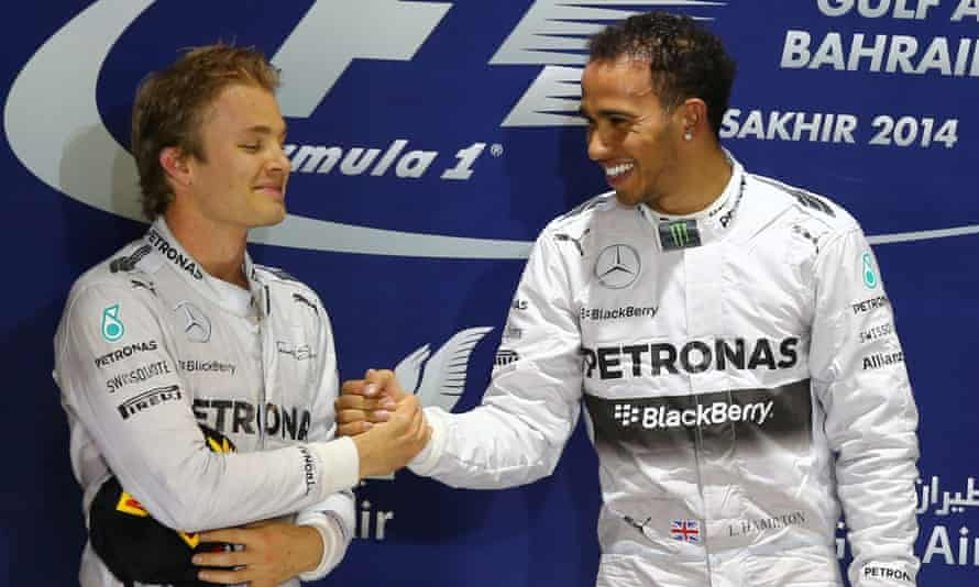 Nico Rosberg (left) will renew his rivalry with Lewis Hamilton, this time as a team owner. 'It's fantastic that Lewis is building a passion project alongside F1 already with Extreme E,' he says.
