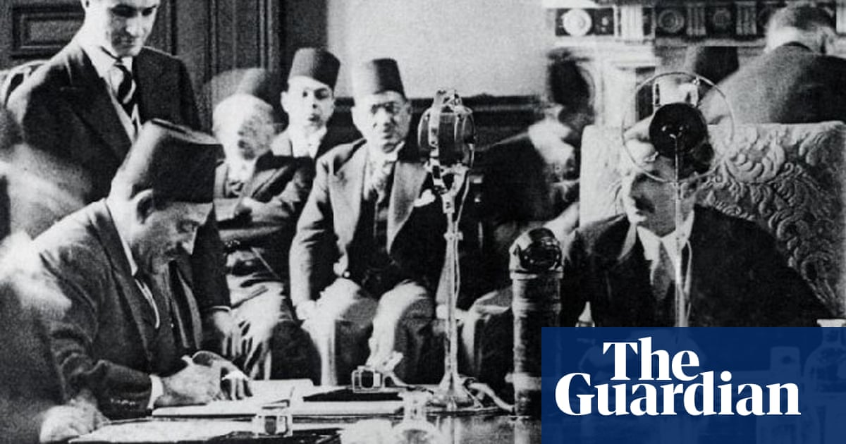 Historic Anglo-Egyptian treaty signed in London – archive, 27 August 1936