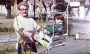 Erika Lederer with her father.