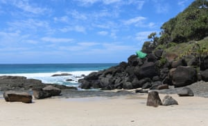 A sunny day at Froggy beach near Snapper Rocks on the Gold Coast of Queensland in Australia.