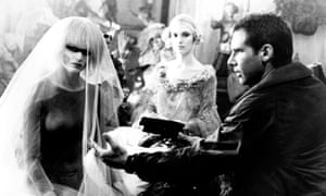 A still from the 1982 film Blade Runner, with Daryl Hannah and Harrison Ford