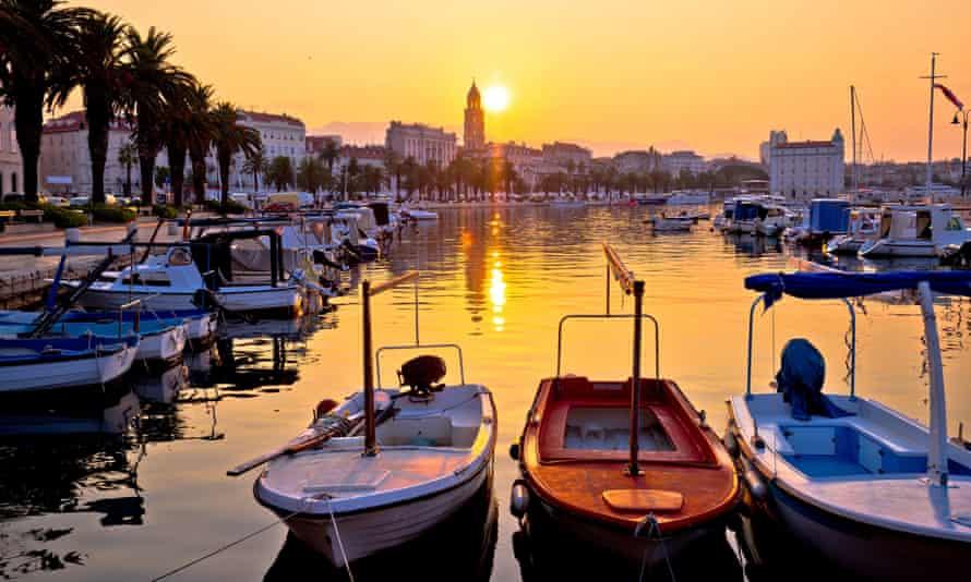 Sunrise in Split.