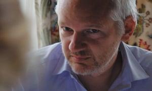 Unembarrassable … Julian Assange in Risk.