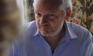 WikiLeaks founder Julian Assange in Laura Poitras's documentary film Risk.